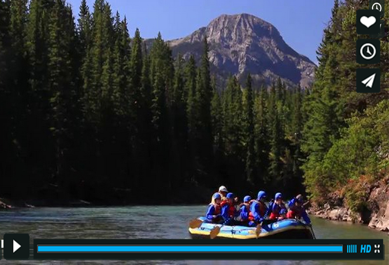 Rafting the Kananaskis River